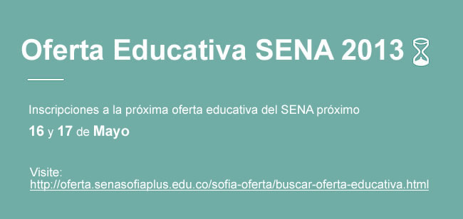 Oferta educativa SENA 2013